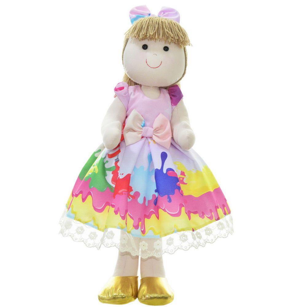 Boneca de Pano Pri com vestido tema Slime