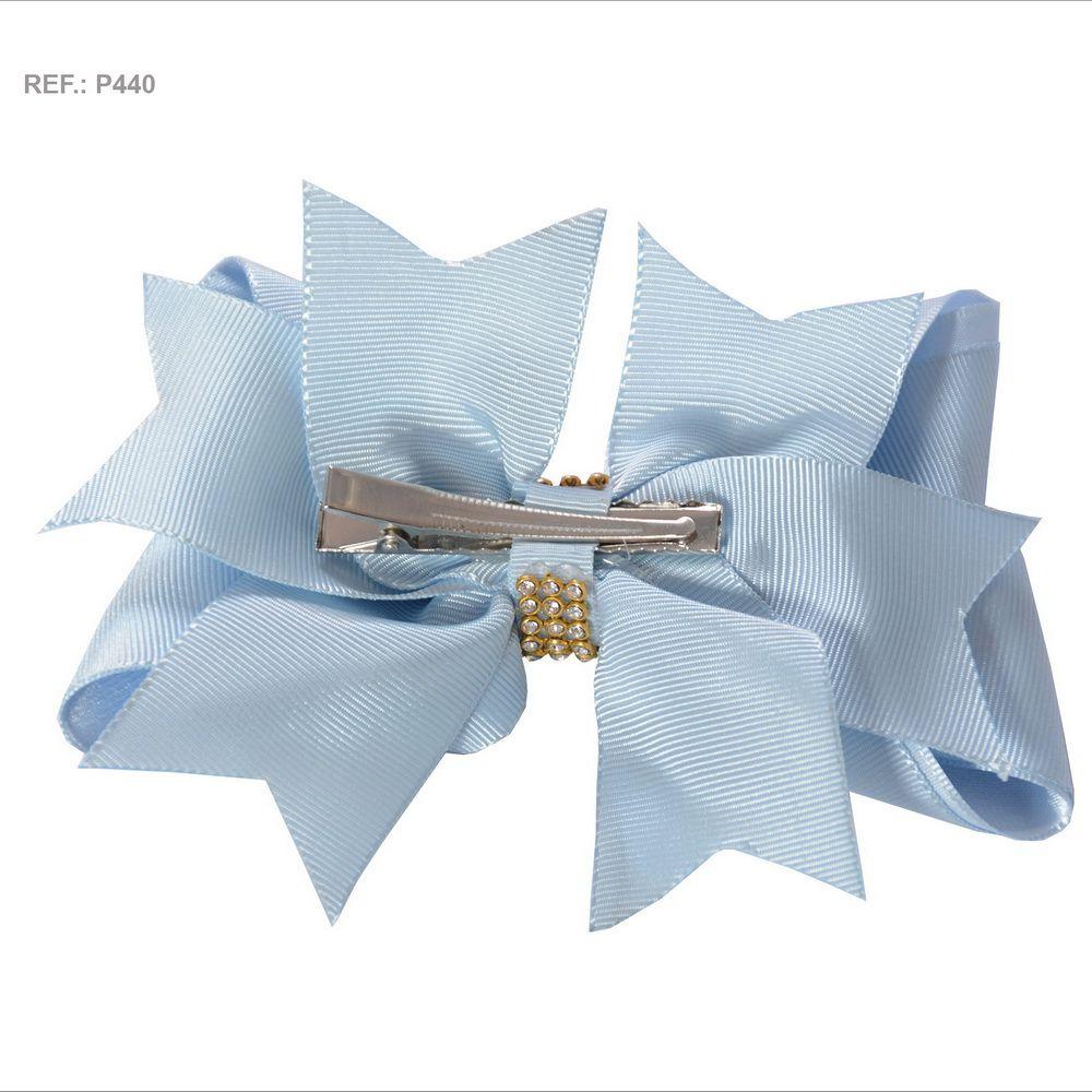 Laço liso azul bebê