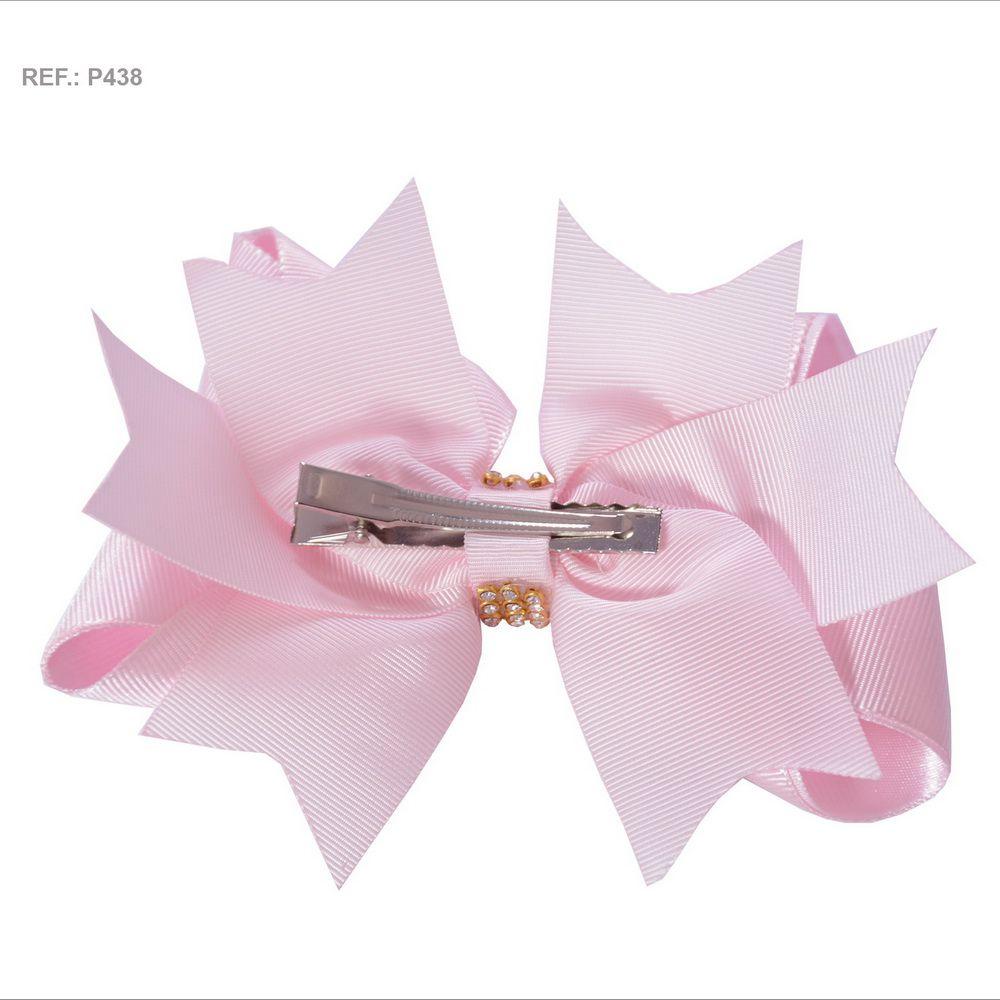 Laço para cabelo liso rosa bebê