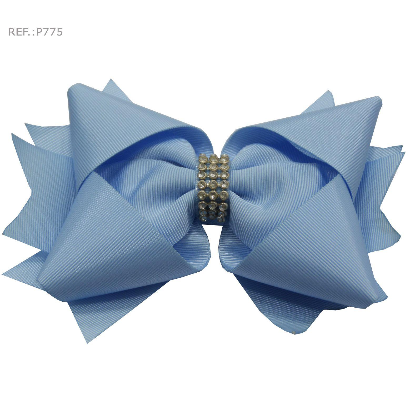 Laço para cabelo azul claro