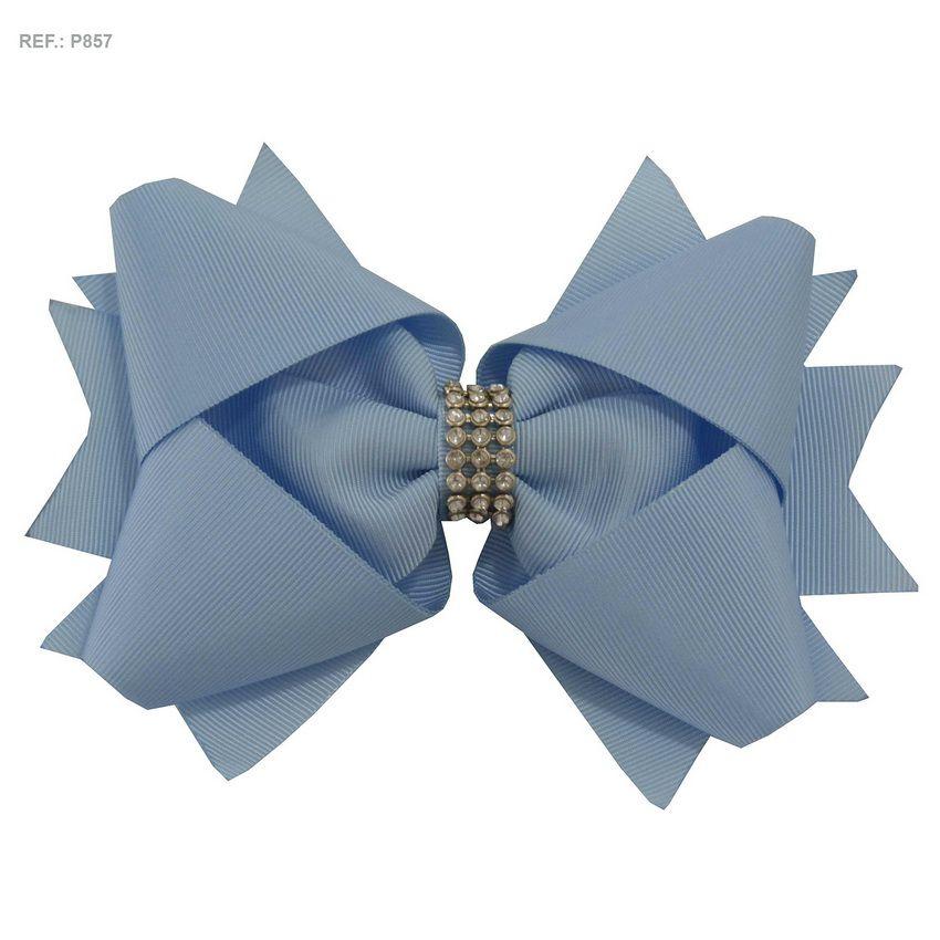 Laço para cabelo liso Azul