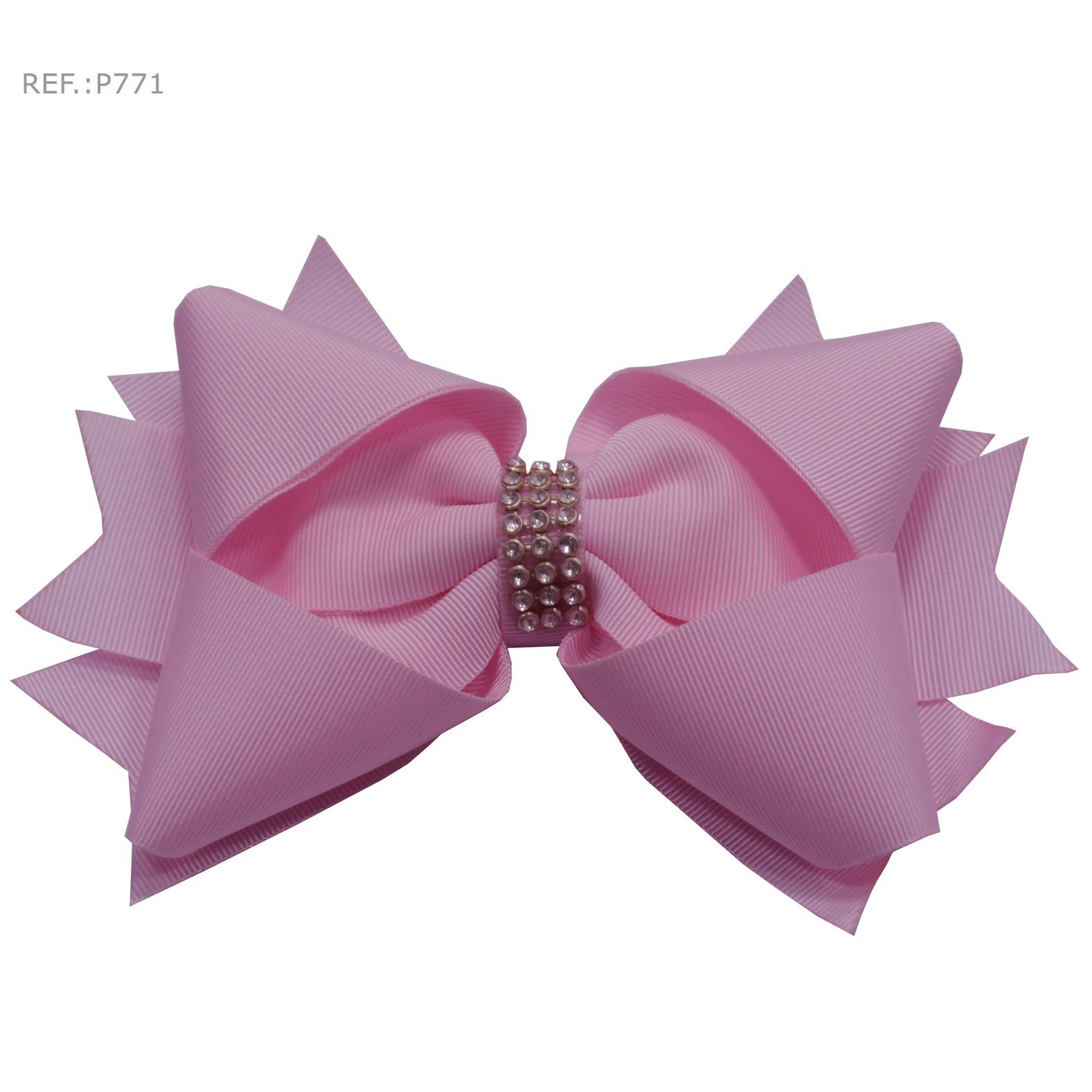 Laço para cabelo rosa claro