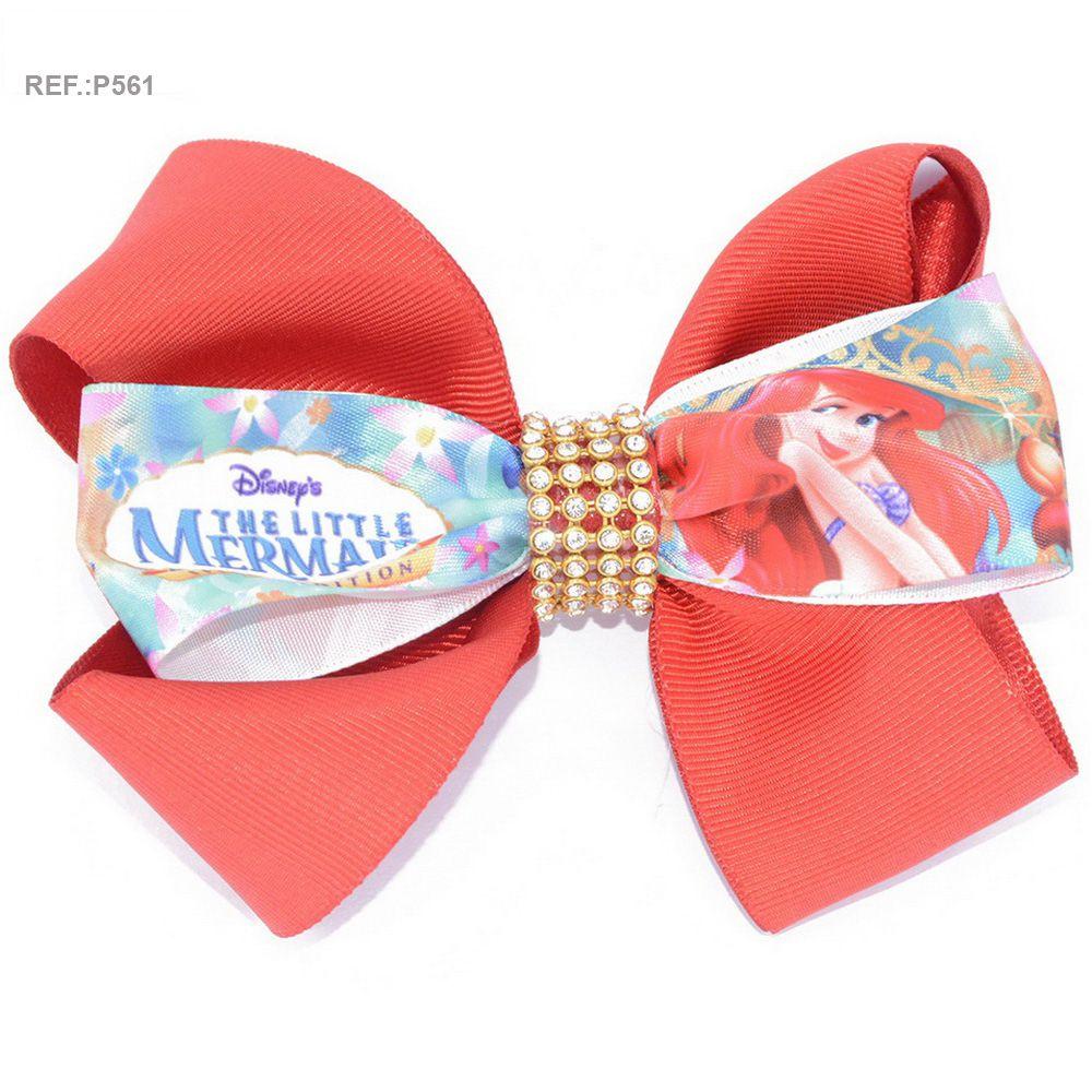 Laço para cabelo temático Pequena sereia Ariel