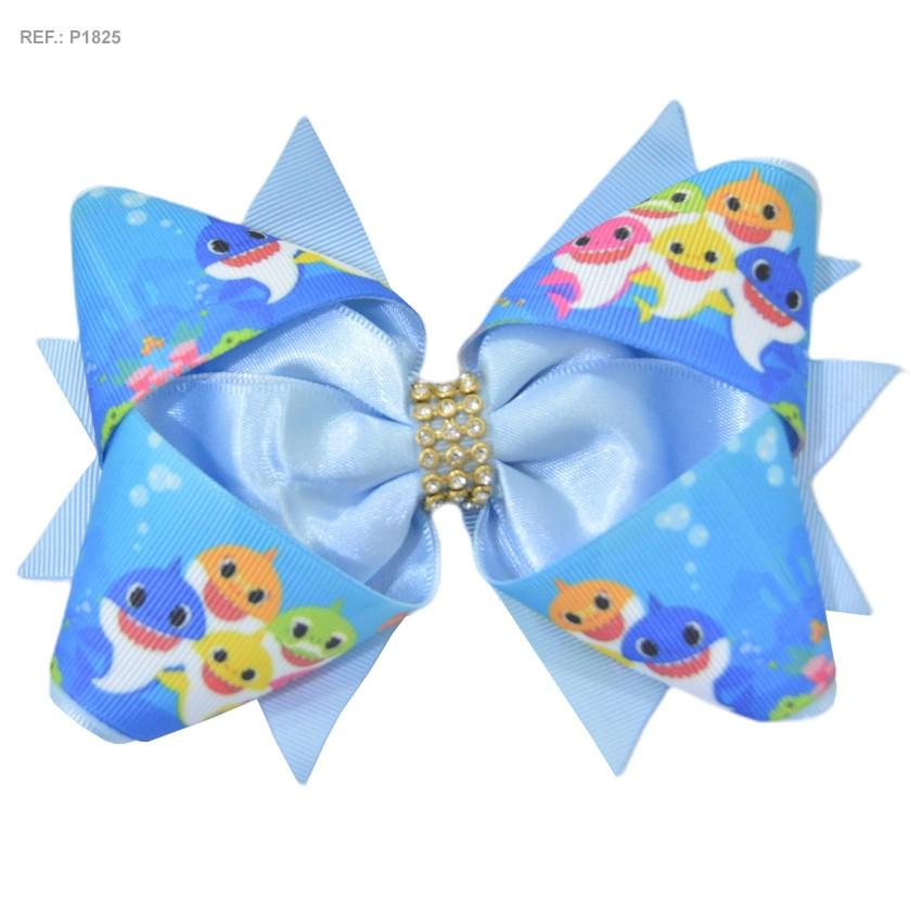 Laço temático Baby Shark Azul
