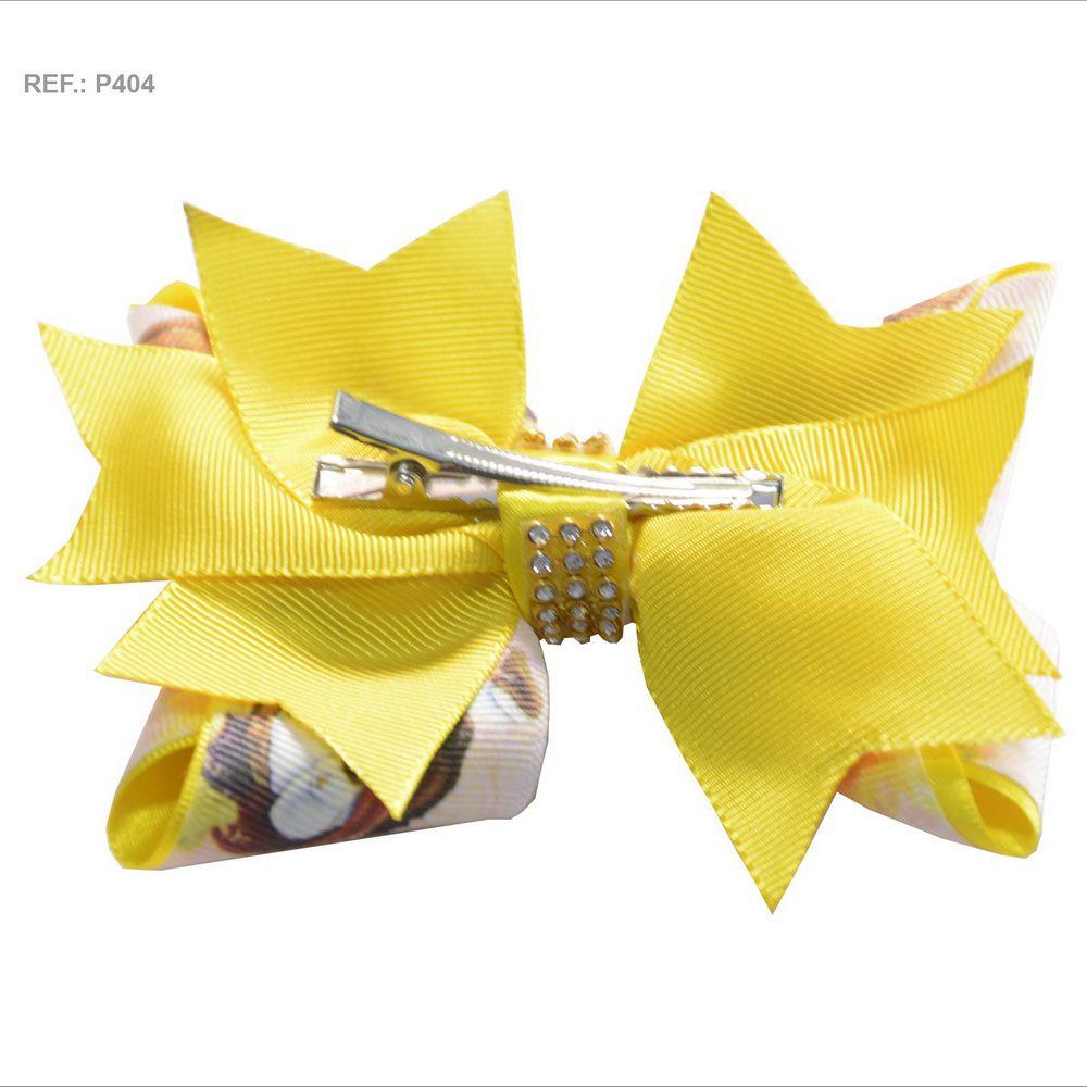 Laço temático da Bela e a Fera amarelo