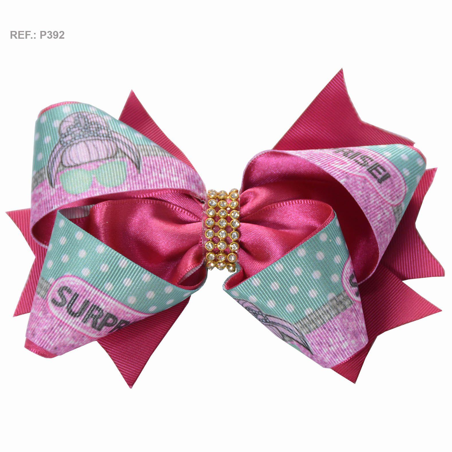 Laço temático da Lol Surprise rosa pink