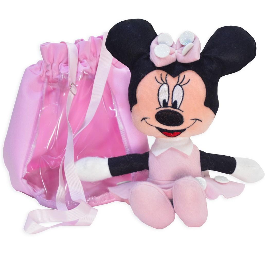 Pelúcia da Minnie Rosa e Bolsa Rosa
