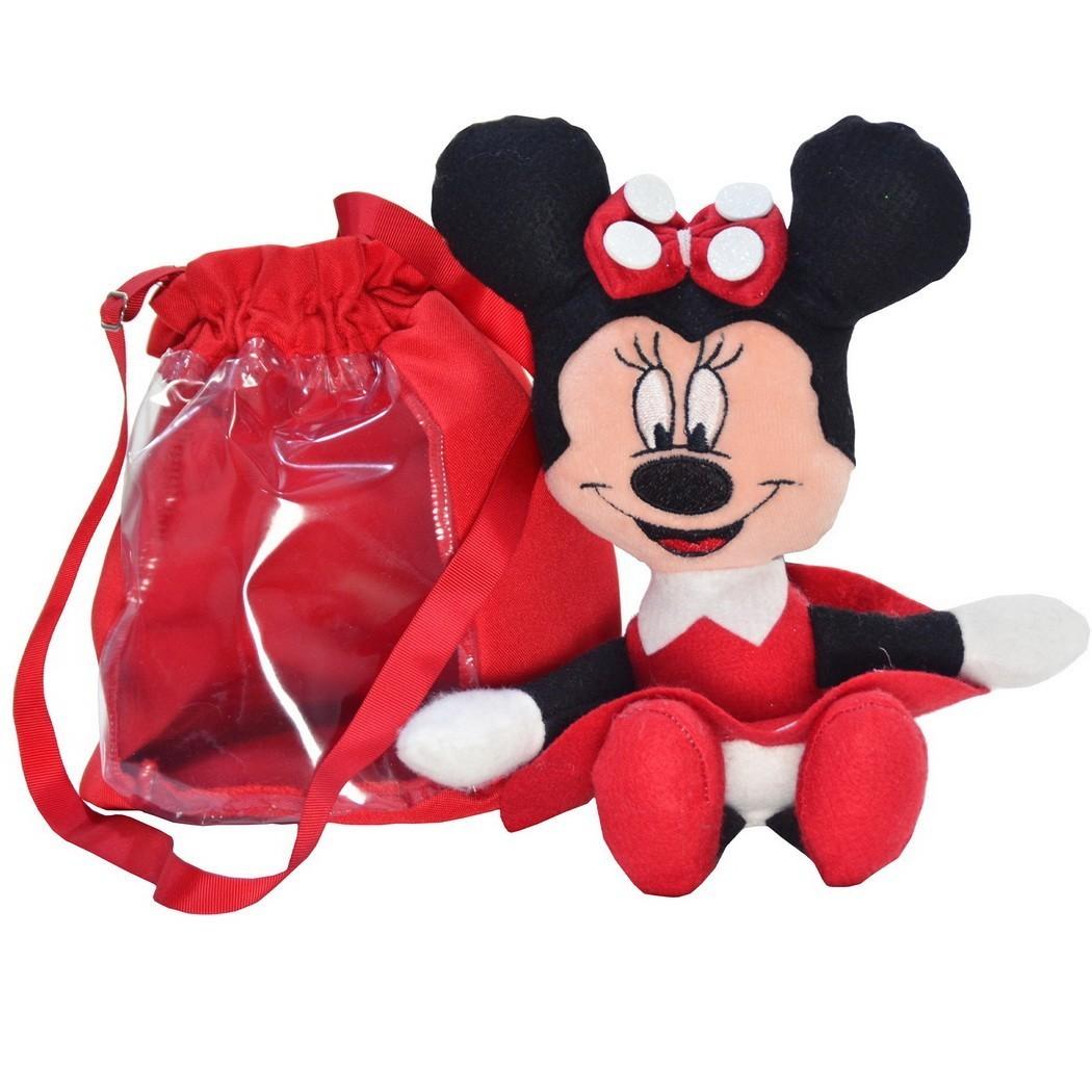Pelúcia da Minnie Vermelha e Bolsa Vermelha