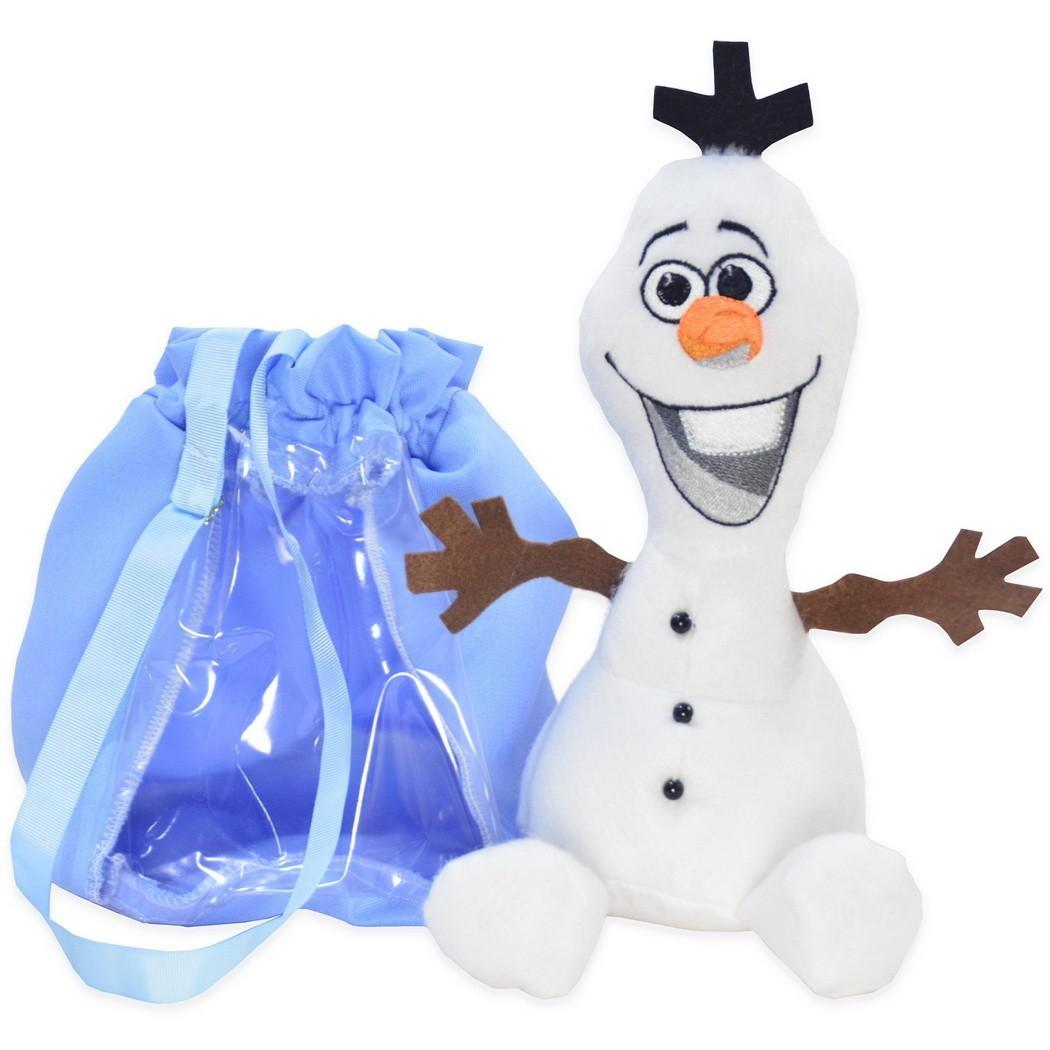 Pelúcia do Olaf da Frozen e Bolsa Azul