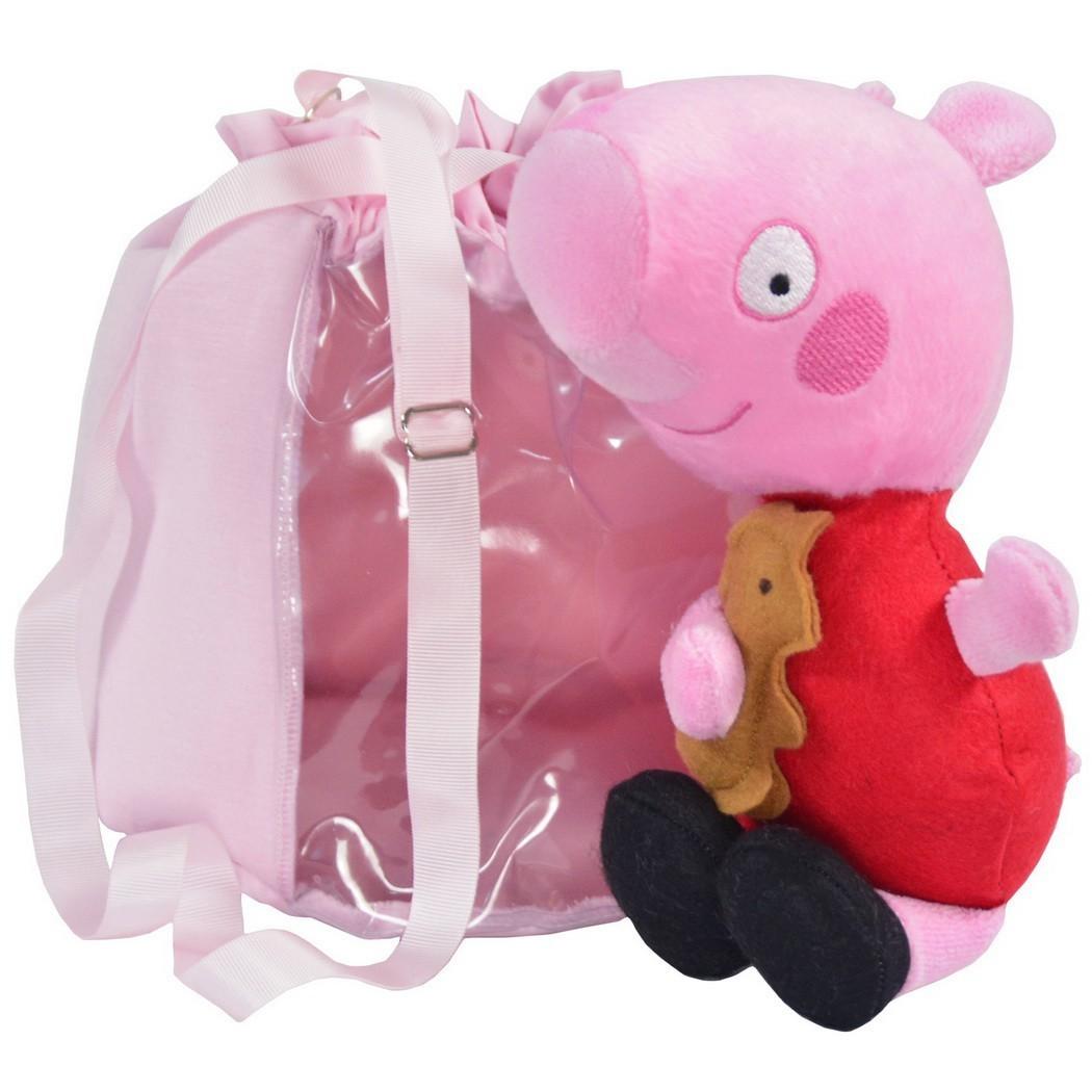 Pelúcia Peppa Pig e Bolsa Rosa