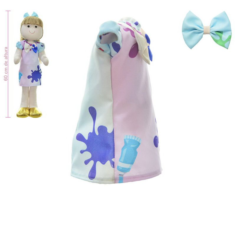 Roupa para Boneca de Pano tema Slime - Vestido