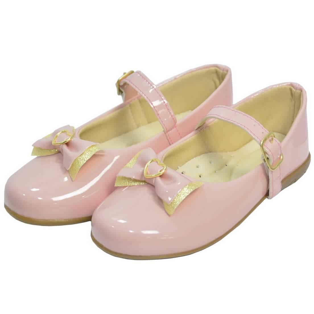 Sapatilha Infantil Rosa Laço no Bico - Sapato Menina