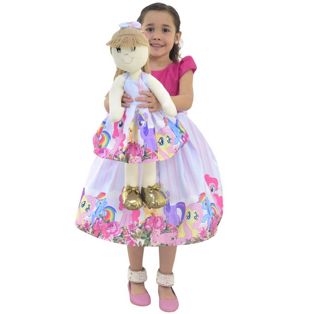 Tal Filha Tal Boneca Pri - Vestido My Little Pony Luxo