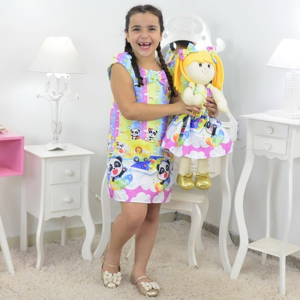 Tal Menina Tal Boneca Helo - Vestido BabyBus Panda Trapézio