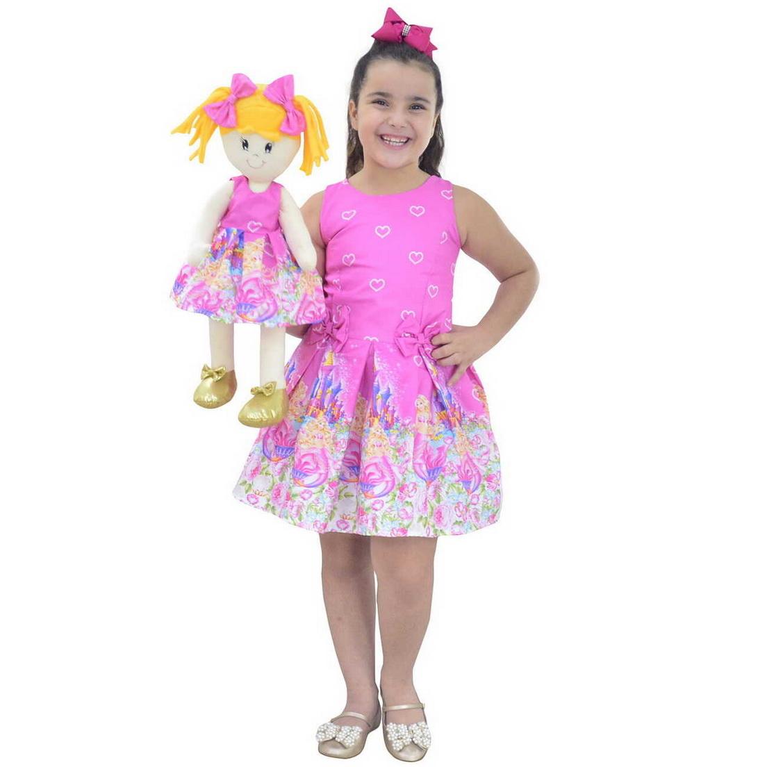 Tal Menina Tal Boneca Helo - Vestido Barbie Sereia Rosa