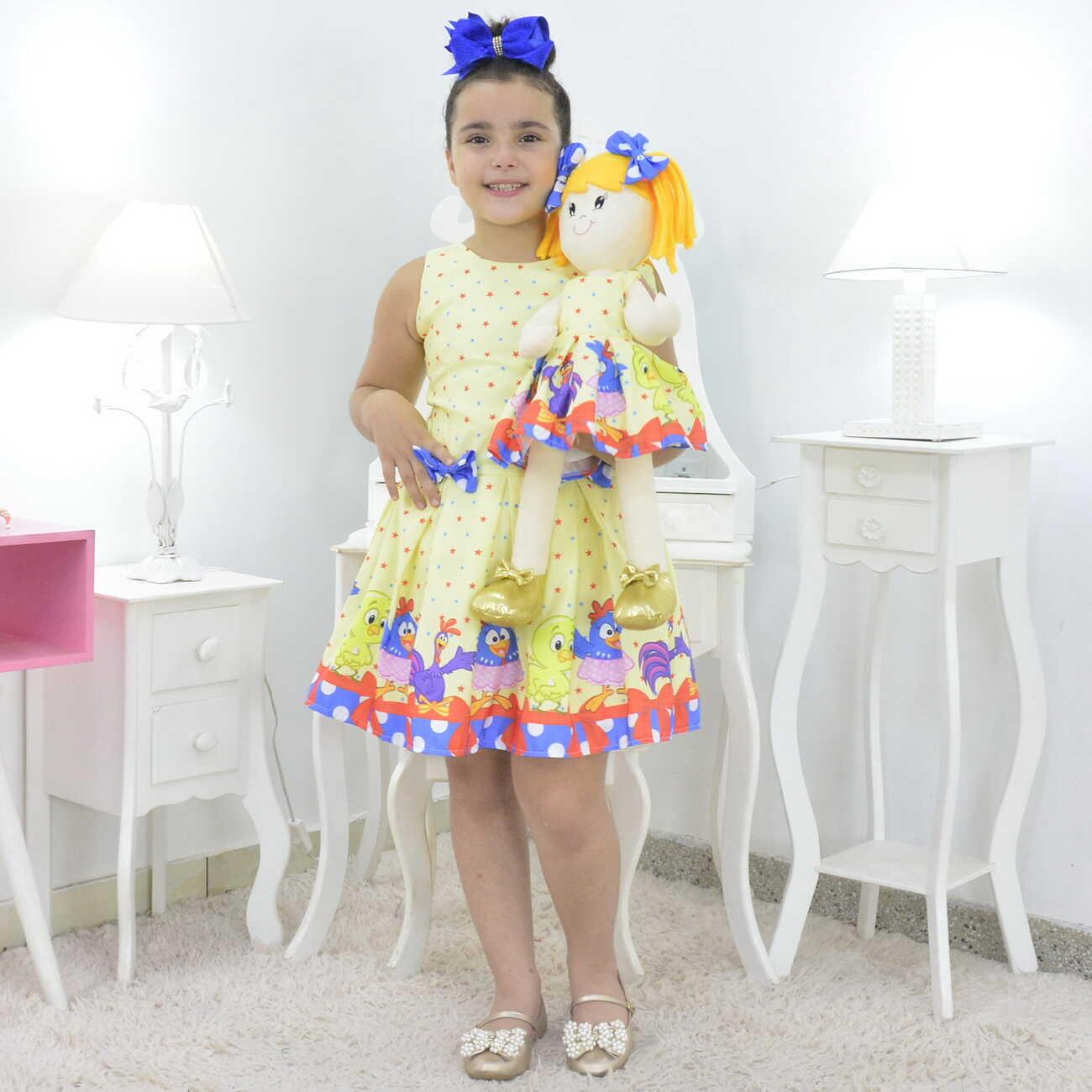 Tal Menina Tal Boneca Helo - Vestido Galinha Pintadinha Candy