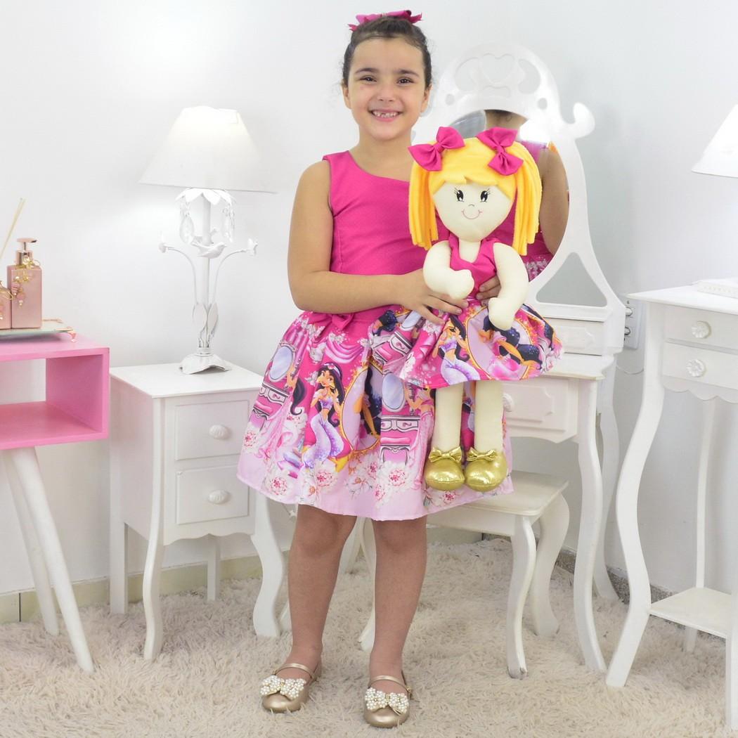 Tal Menina Tal Boneca Helo - Vestido Jasmine Rosa
