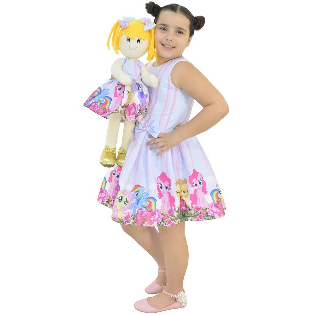 Tal Menina Tal Boneca Helo - Vestido My Little Pony
