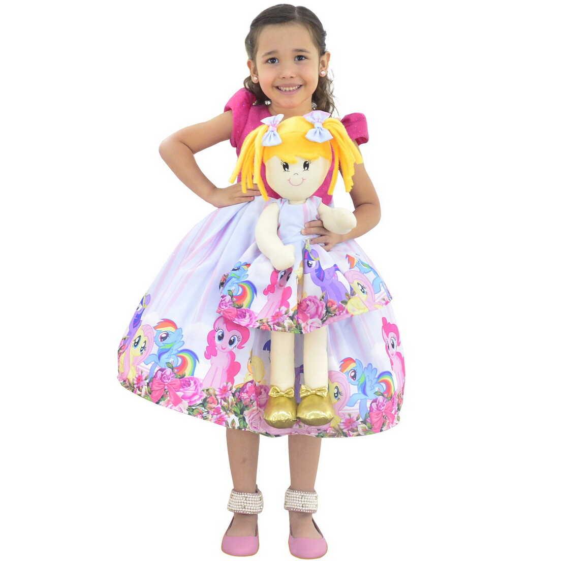 Tal Menina Tal Boneca Helo - Vestido My Little Pony Luxo