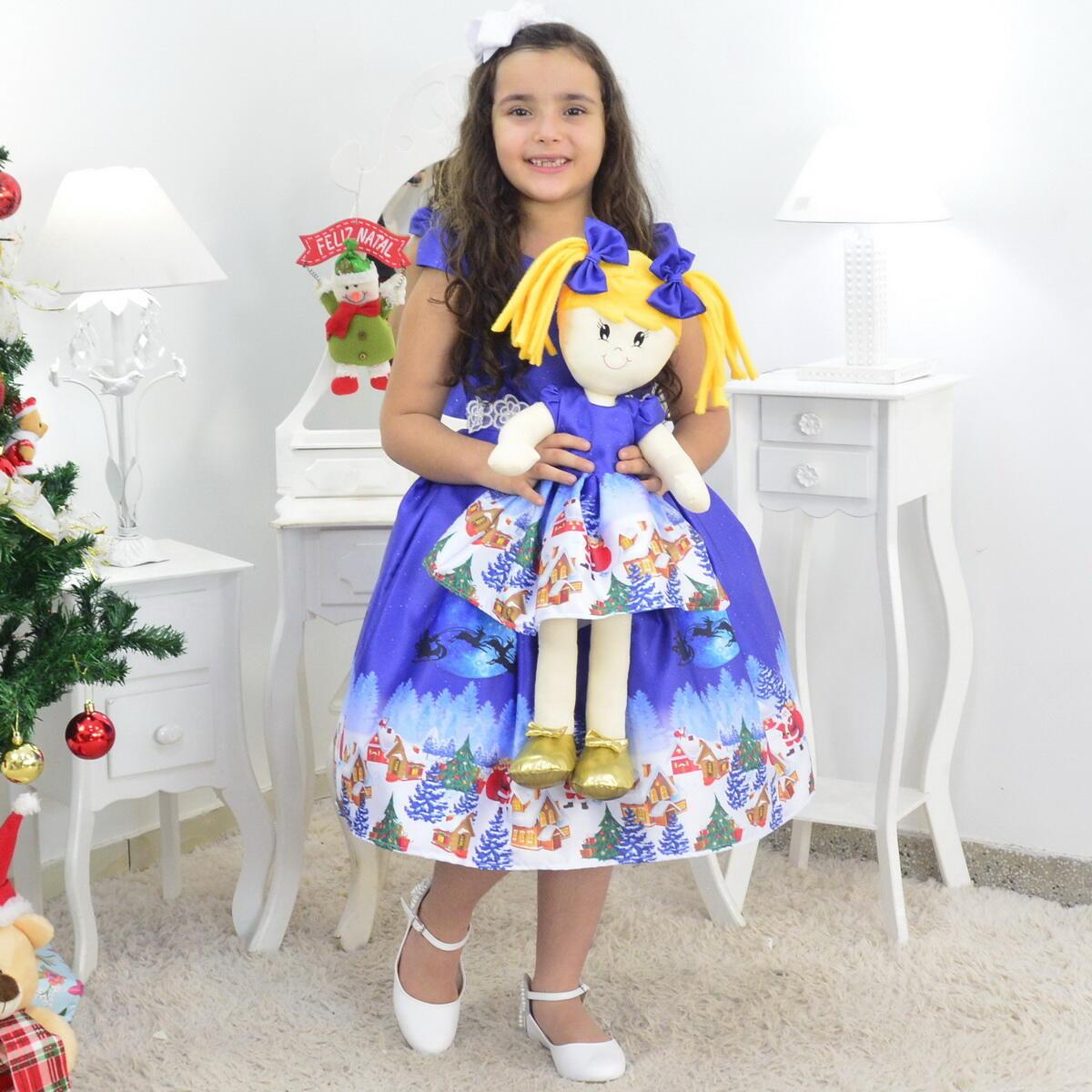 Tal Menina Tal Boneca Helo - Vestido Natal Infantil Papai