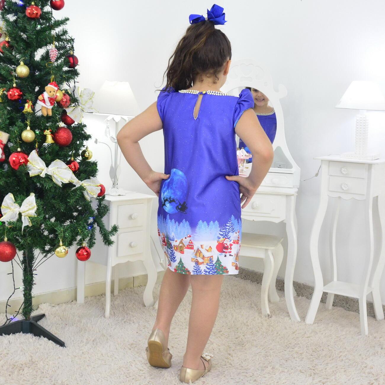 Tal Menina Tal Boneca Helo - Vestido Noite de Natal Trapézio