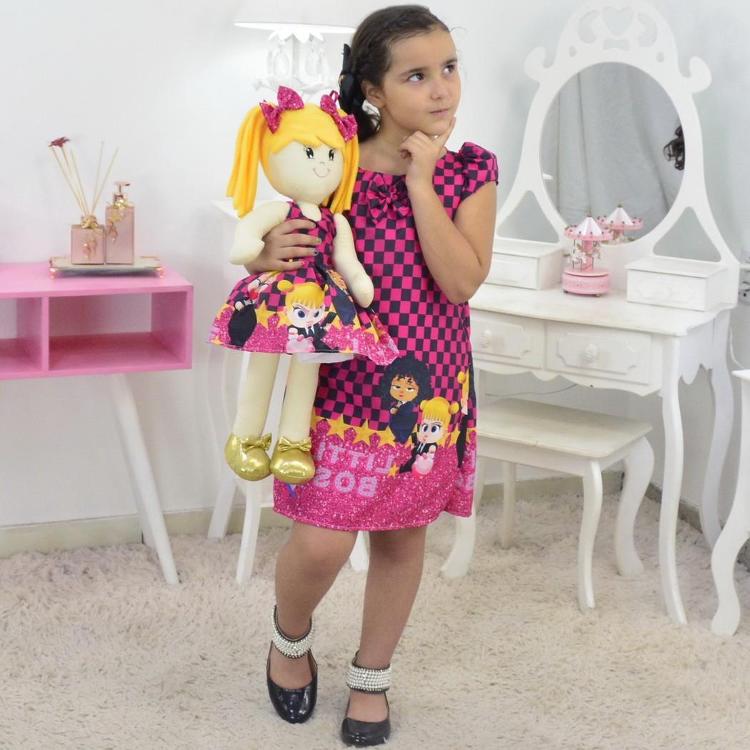 Tal Menina Tal Boneca Helo - Vestido Poderosa Chefinha Trapézio