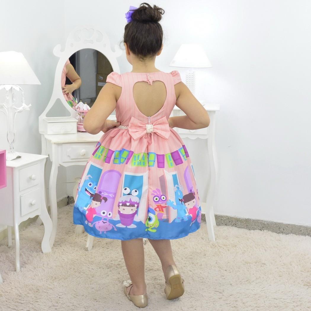 Tal Menina Tal Boneca Mari - Vestido Boo Monstros Sa