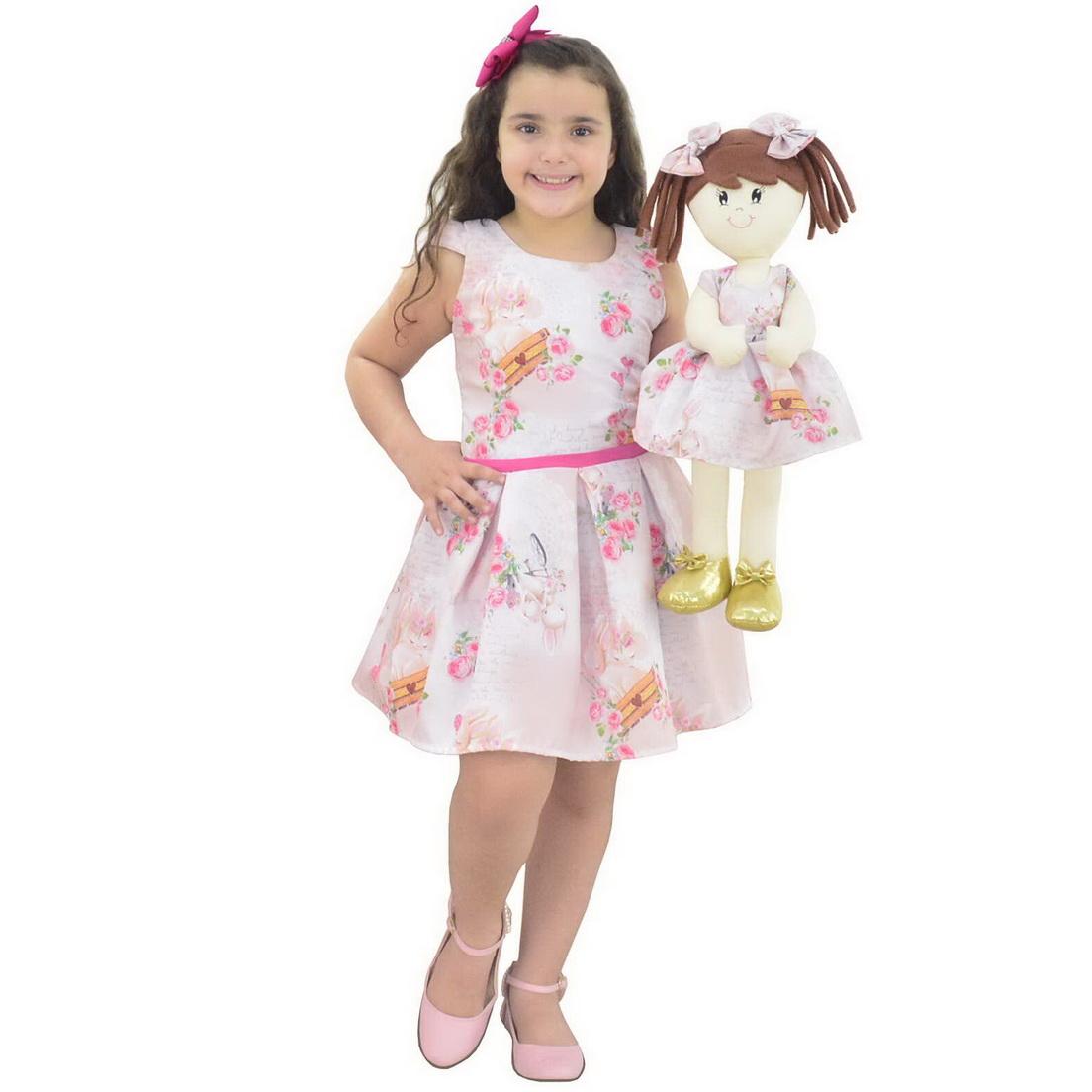 Tal Menina Tal Boneca Mari - Vestido Coelhinhos da Páscoa