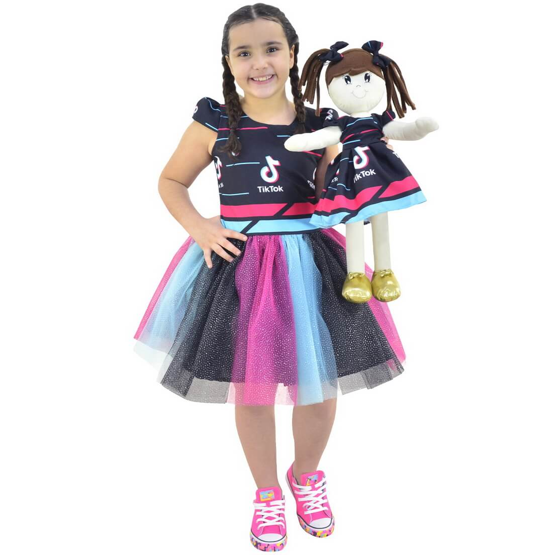 Tal Menina Tal Boneca Mari - Vestido infantil TikTok (Tik Tok)