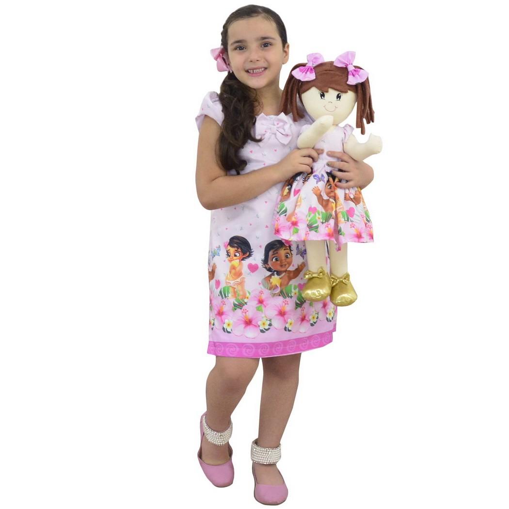 Tal Menina Tal Boneca Mari - Vestido Moana Bebê Trapézio