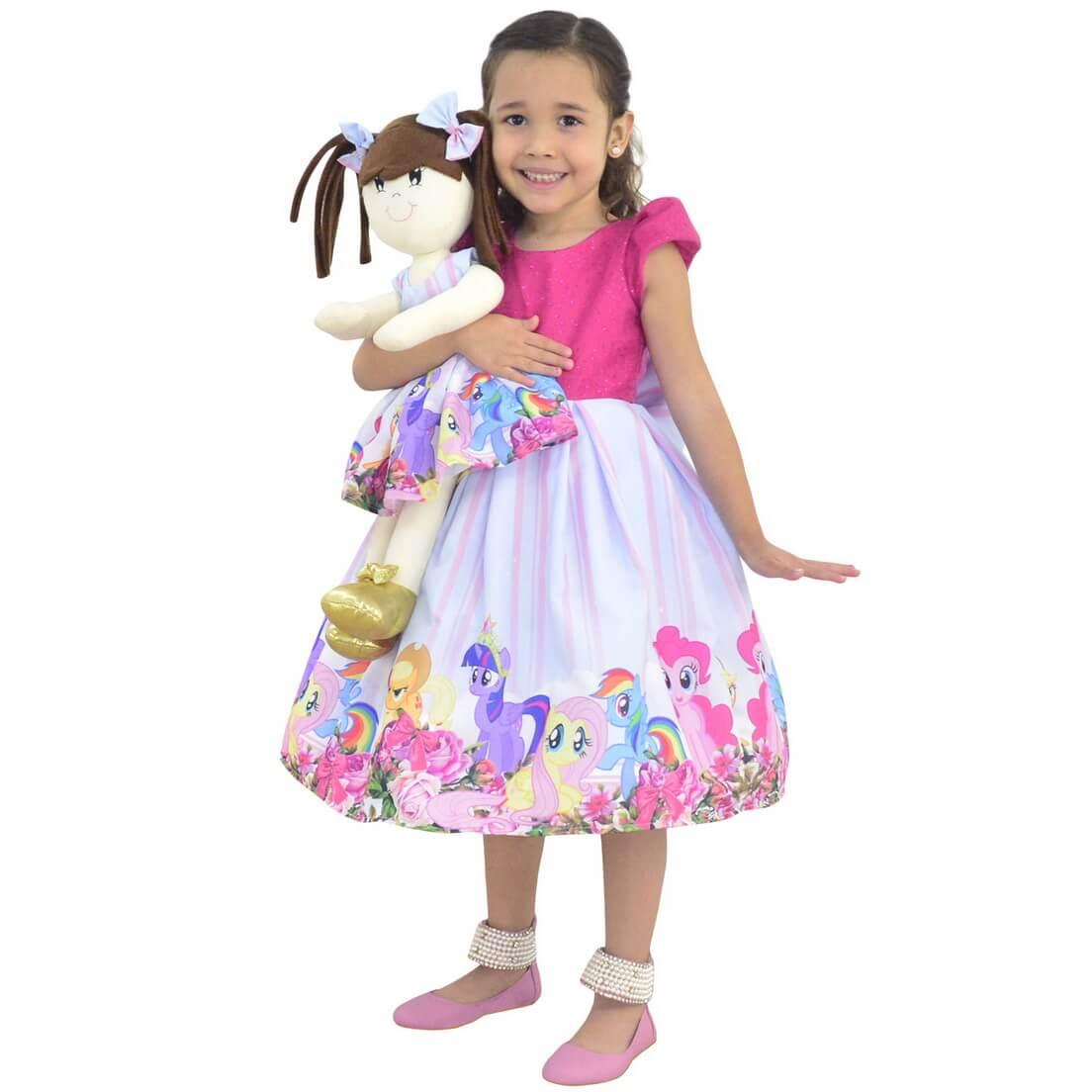 Tal Menina Tal Boneca Mari - Vestido My Little Pony Luxo