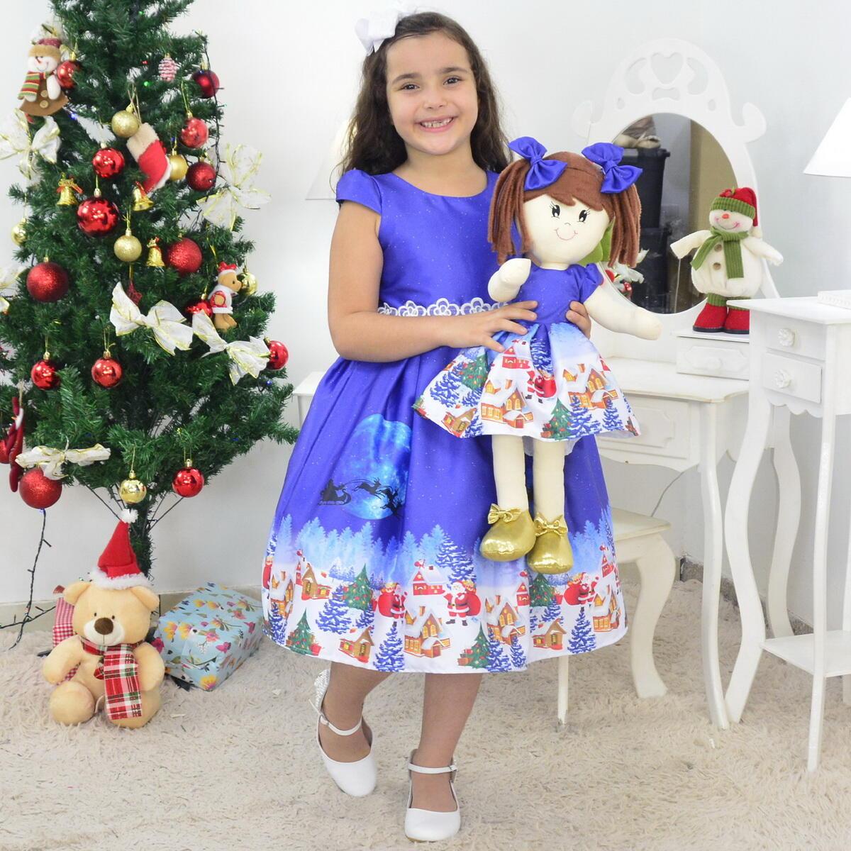 Tal Menina Tal Boneca Mari - Vestido Natal Infantil Papai