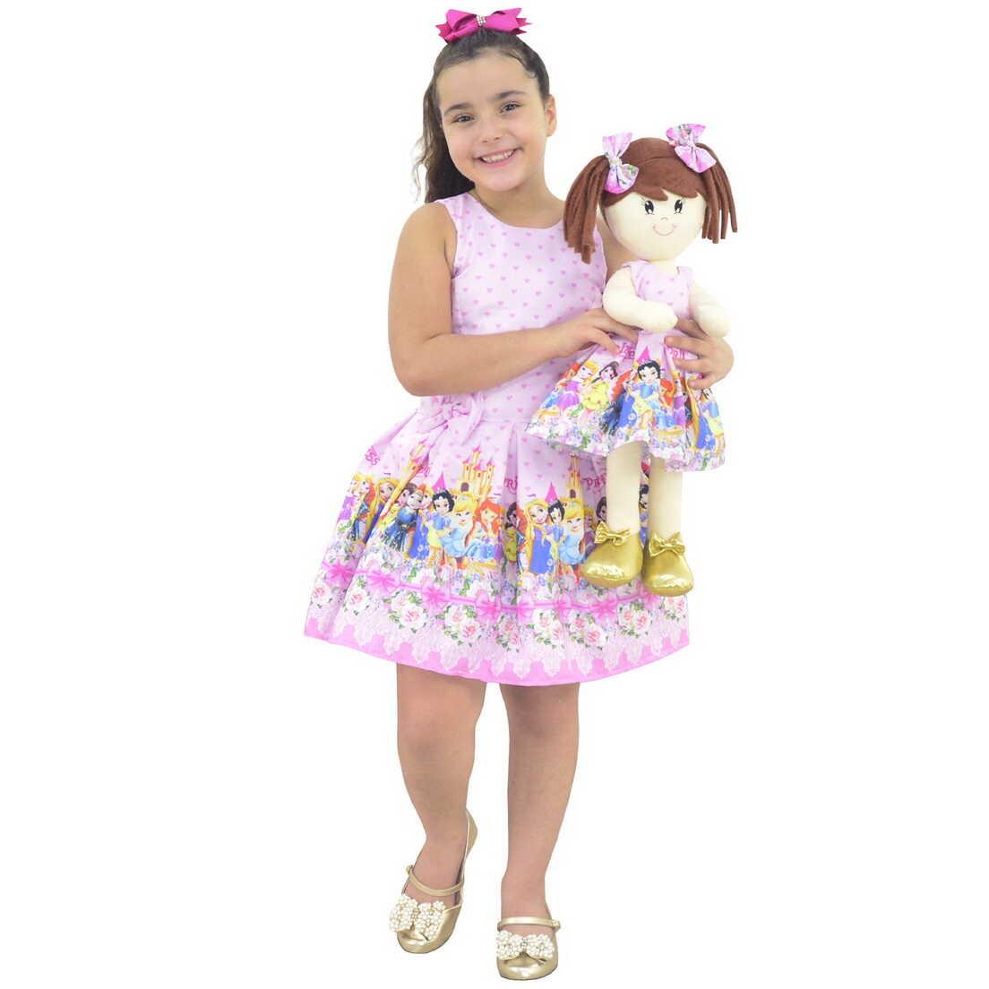 Tal Menina Tal Boneca Mari - Vestido Princesas Disney Cute