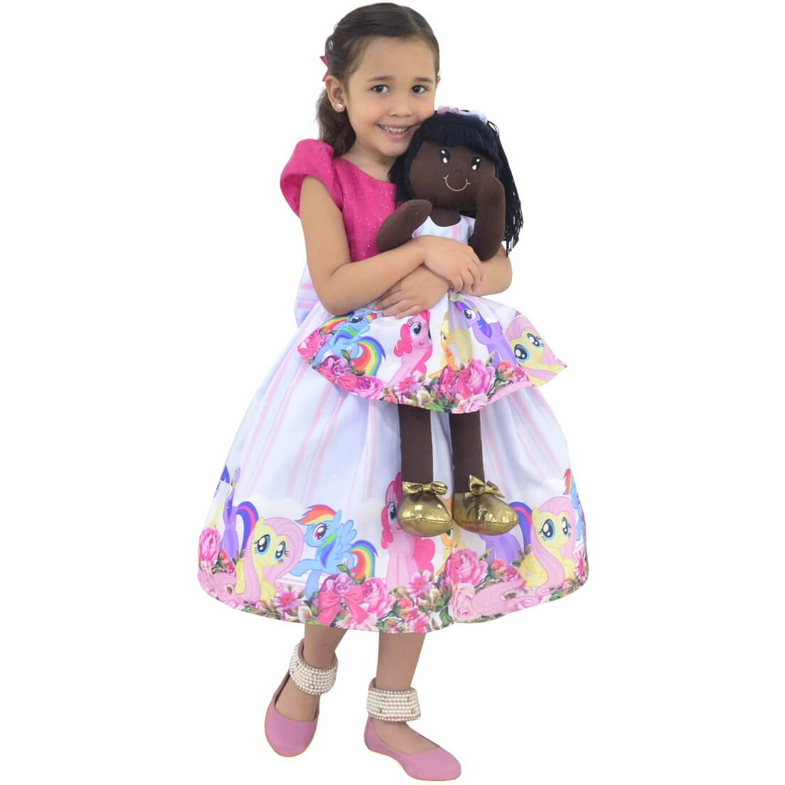 Tal Menina Tal Boneca Nina - Vestido My Little Pony Luxo