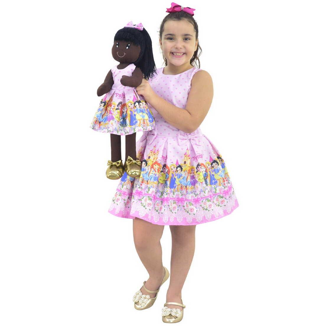 Tal Menina Tal Boneca Nina - Vestido Princesas Disney Cute