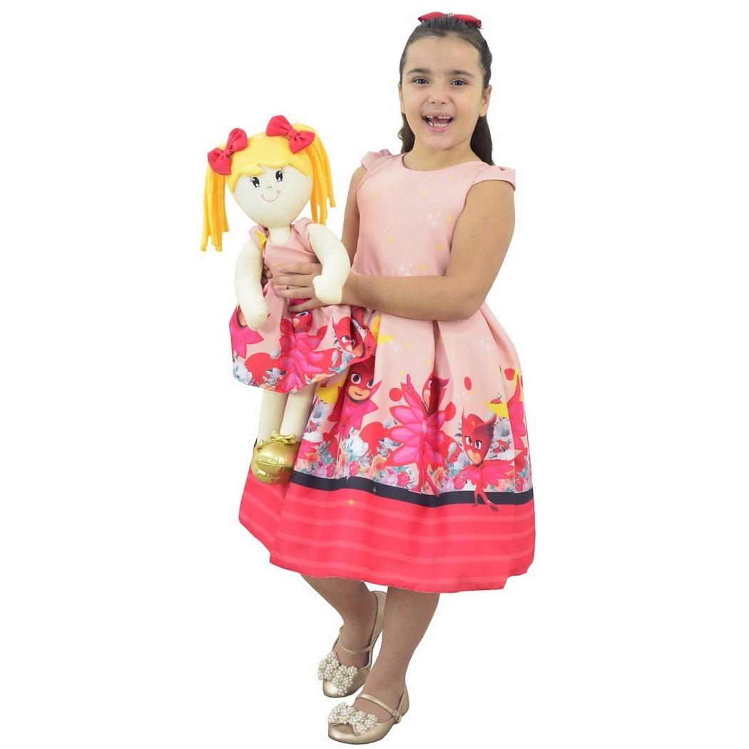 Tal Menina Tal Boneca - Vestido Corujita Amaya do PJ Masks