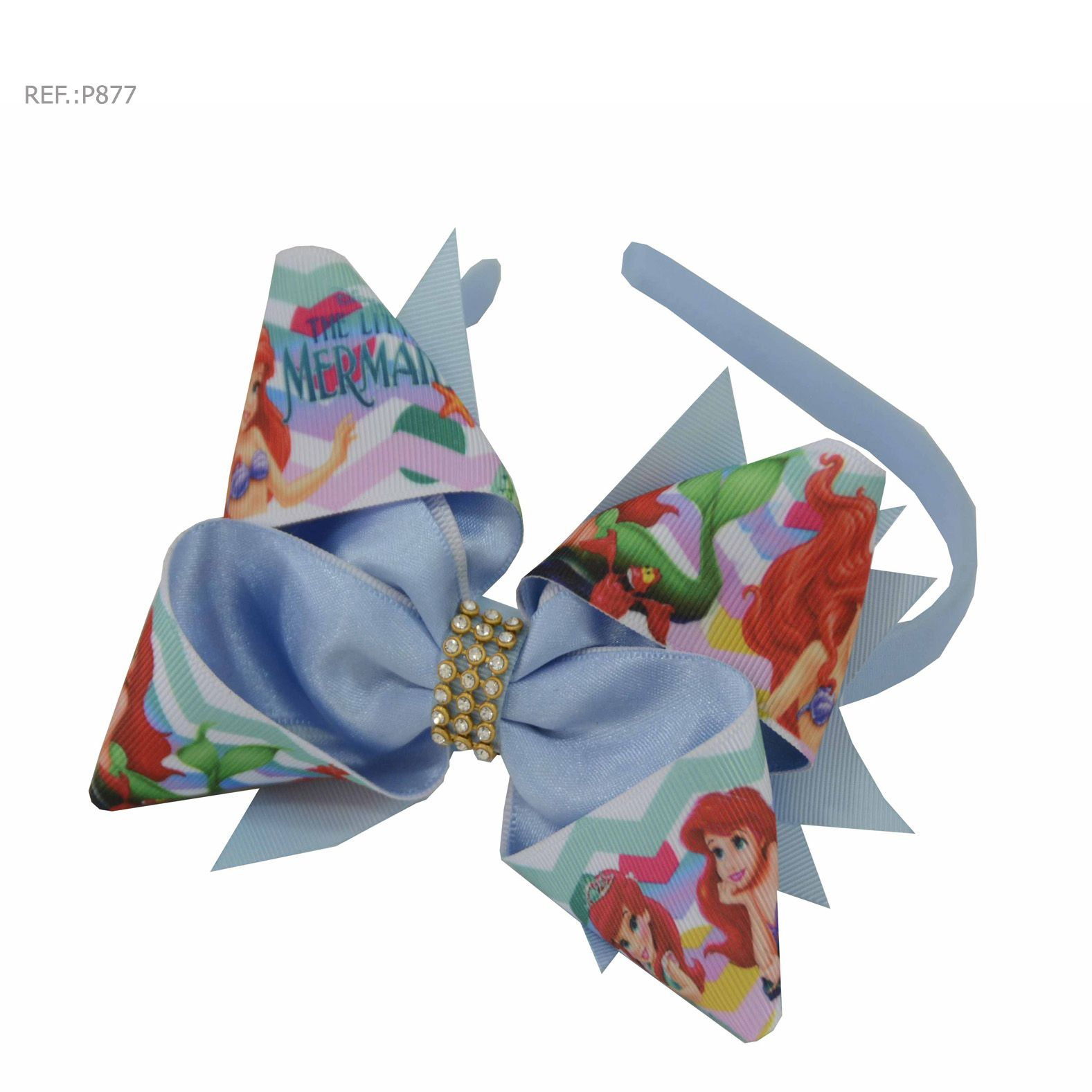 Tiara para cabelo temática Ariel-Pequena Sereia
