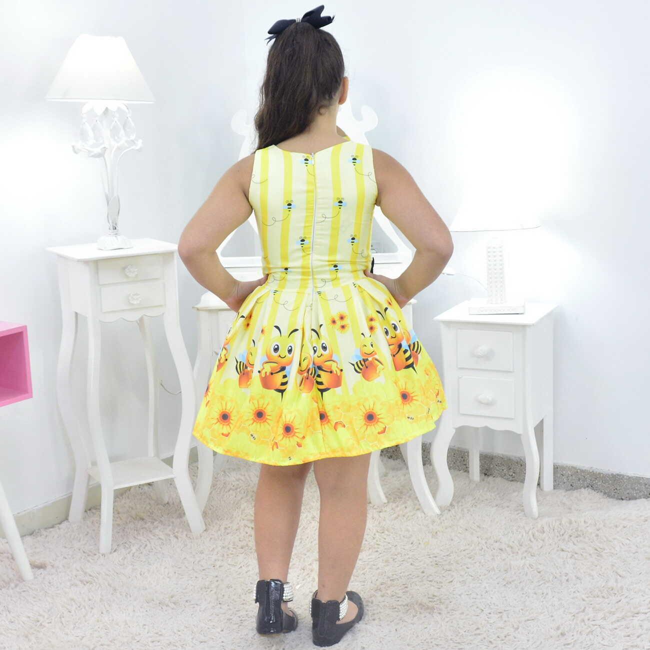 Vestido Abelhinha Bebê