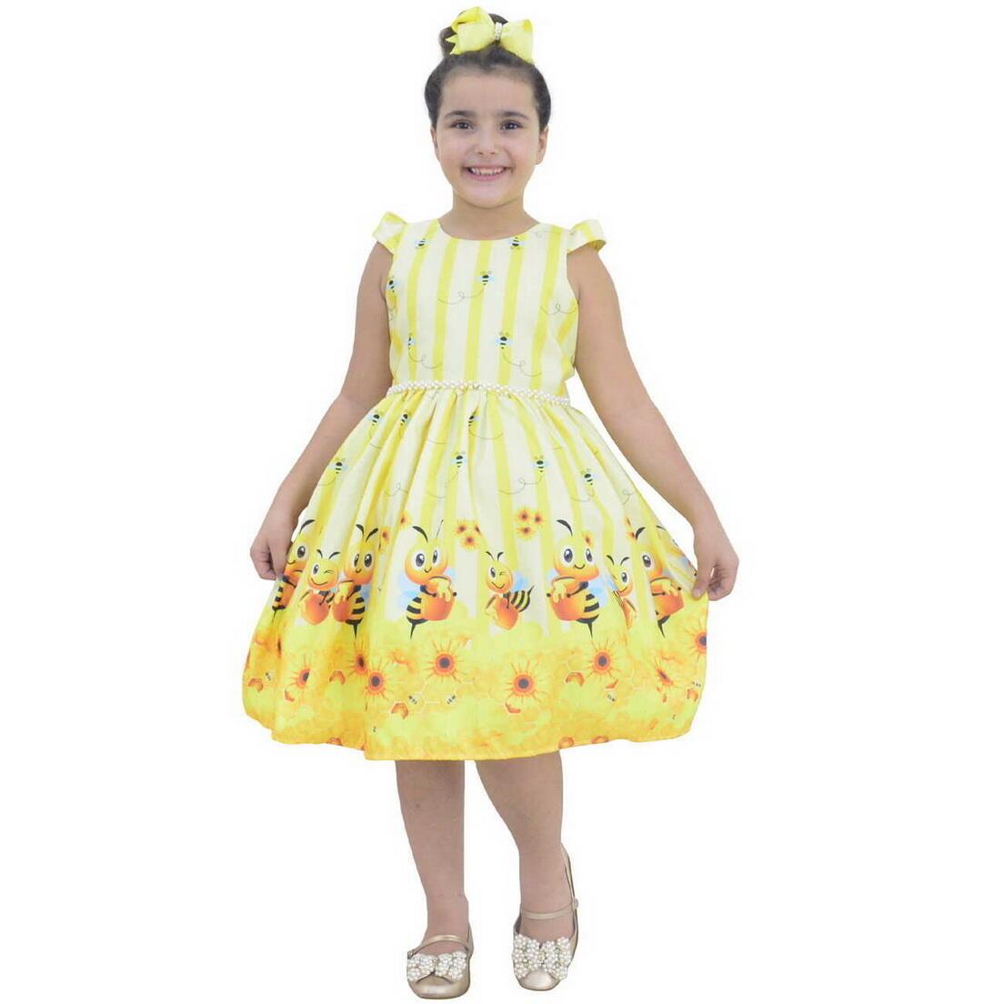 Vestido Abelhinha Bebê Festa