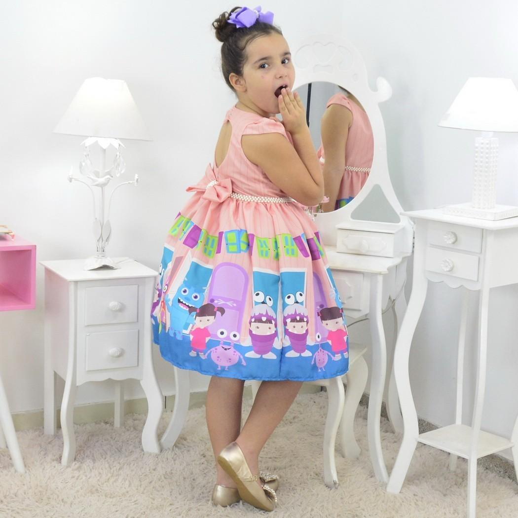 Vestido Boo Monstros Sa - Festa