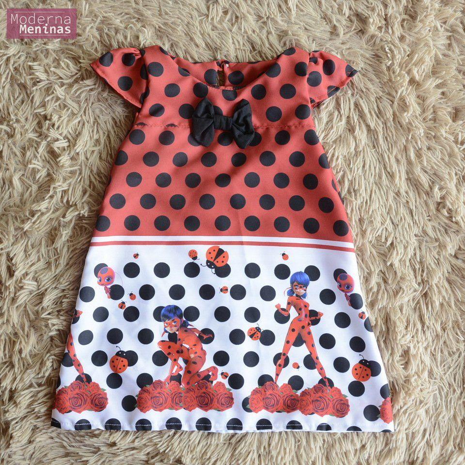 Vestido da Ladybug vermelho – Tubinho trapézio