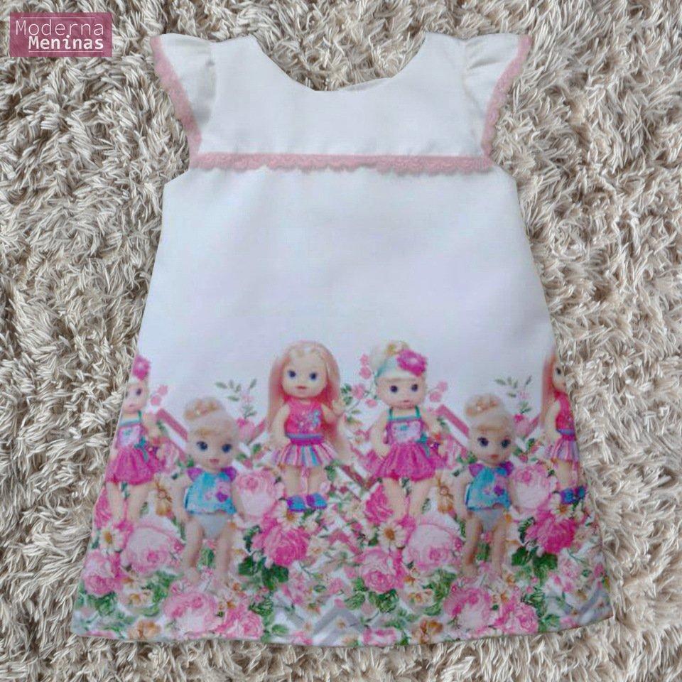 Vestido festa infantil da Baby Alive  – tubinho trapézio
