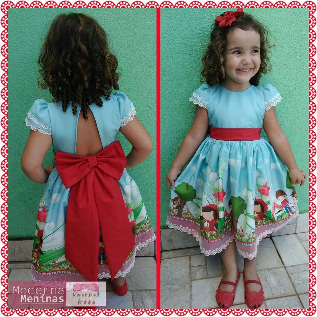 Vestido festa infantil da chapeuzinho vermelho