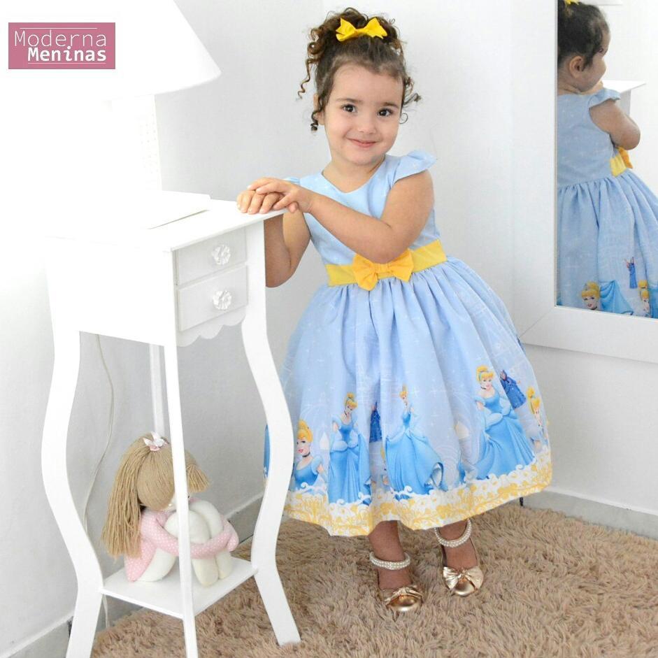 Vestido festa infantil da Cinderela