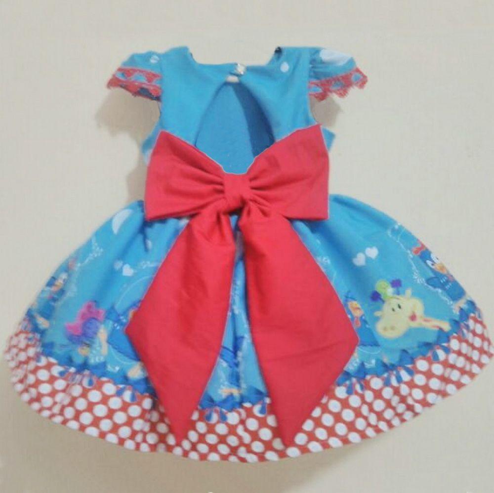 Vestido festa infantil da Galinha Pintadinha