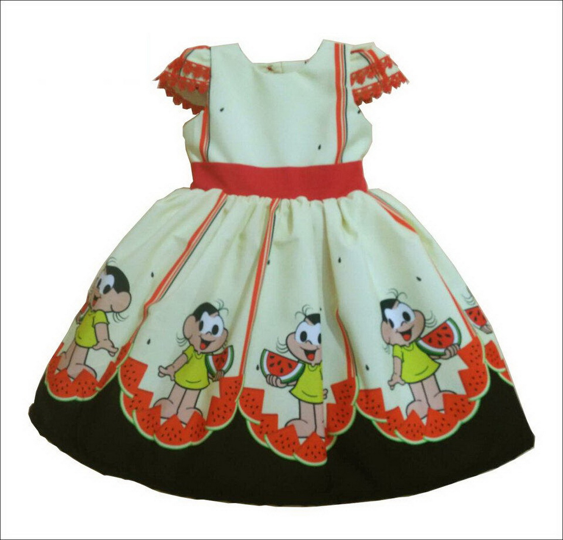 Vestido festa infantil da Magali - turma da Mônica  superluxo