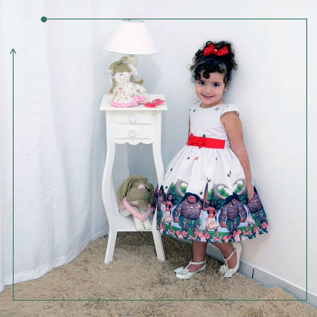 Vestido festa infantil da Moana