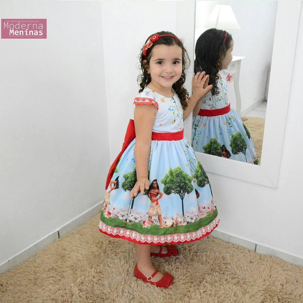 Vestido festa infantil da Moana Bebê