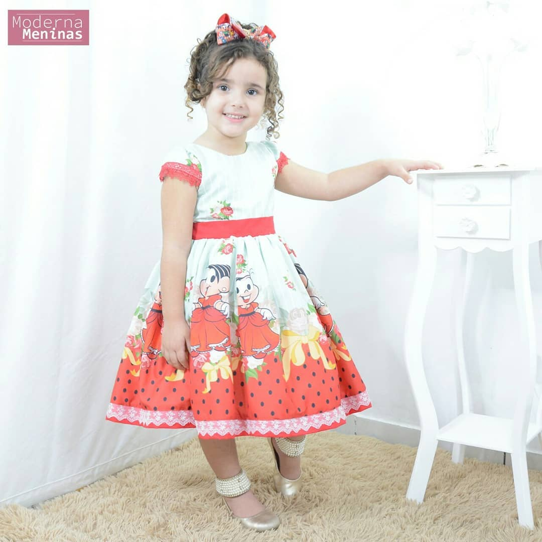 Vestido festa infantil da Mônica - Turma da Mônica