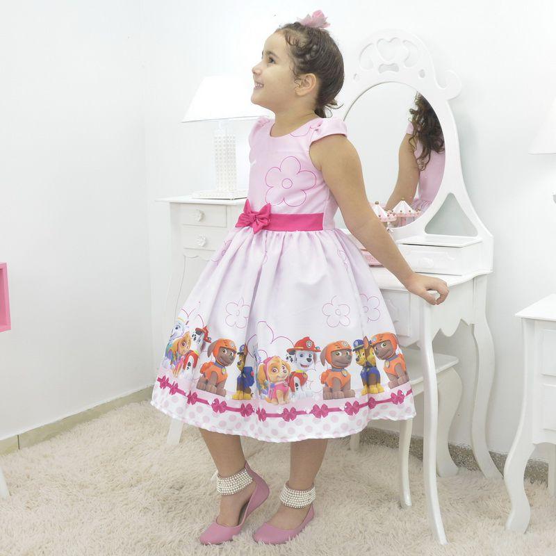 Vestido Festa Infantil da Patrulha Canina